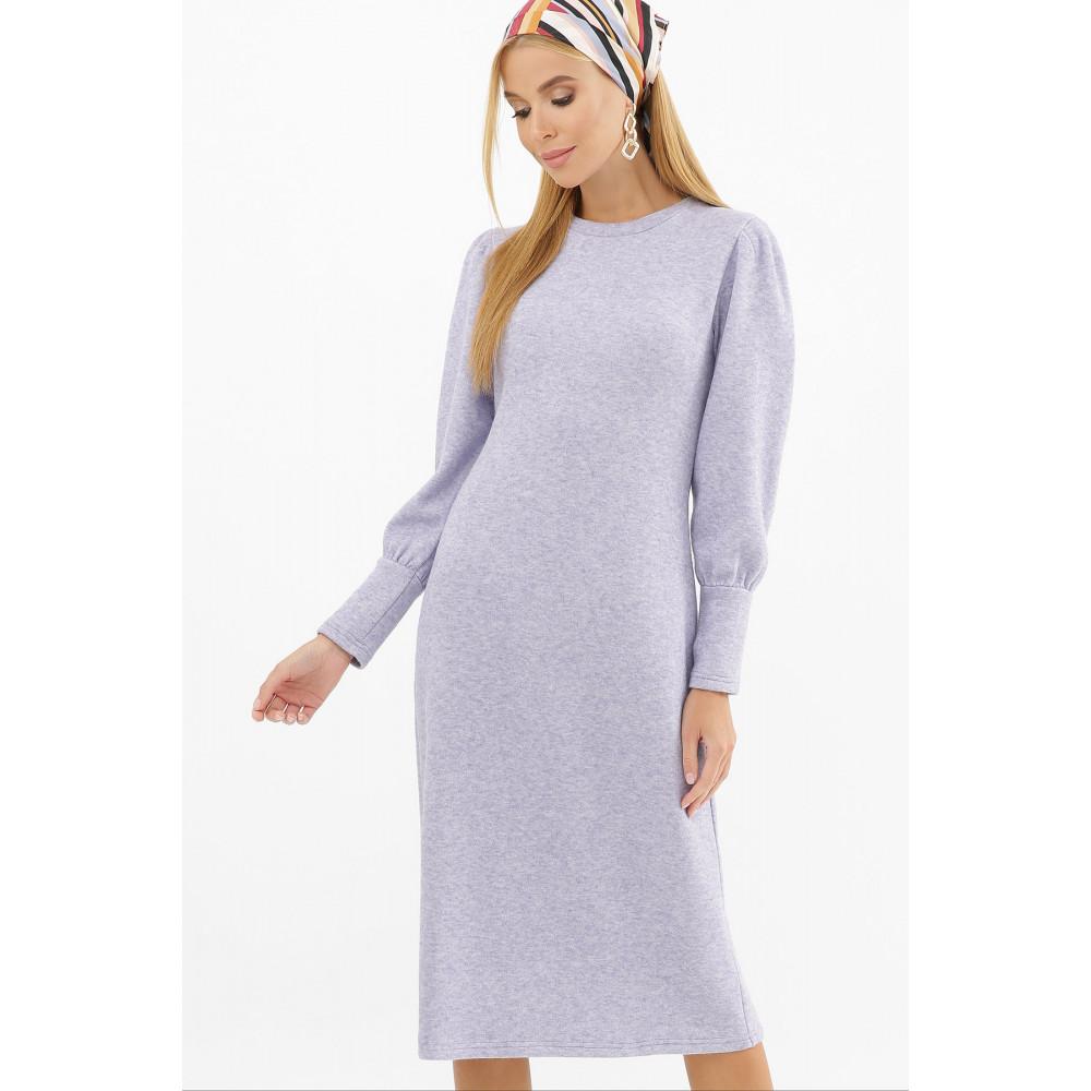 Лавандовое теплое платье Жизель фото 2