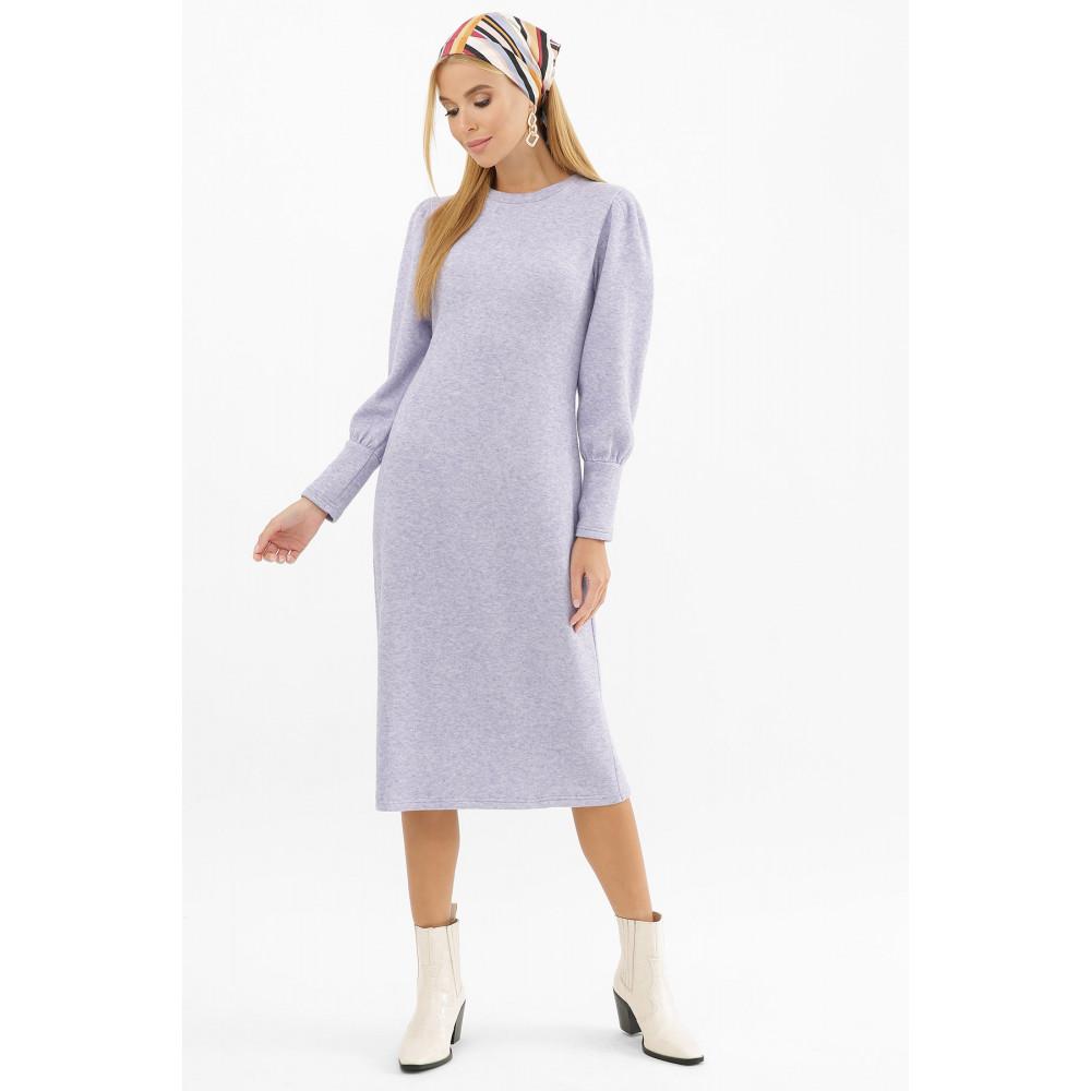 Лавандовое теплое платье Жизель фото 3