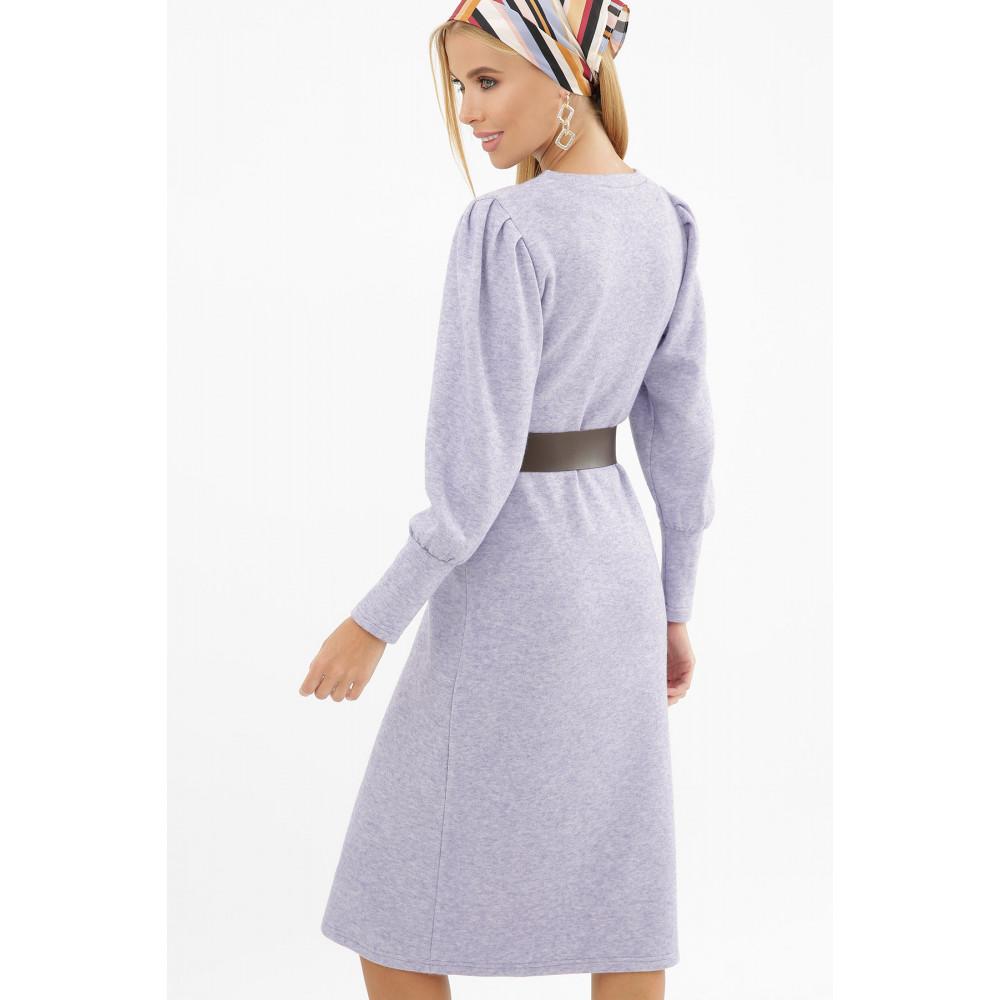 Лавандовое теплое платье Жизель фото 4