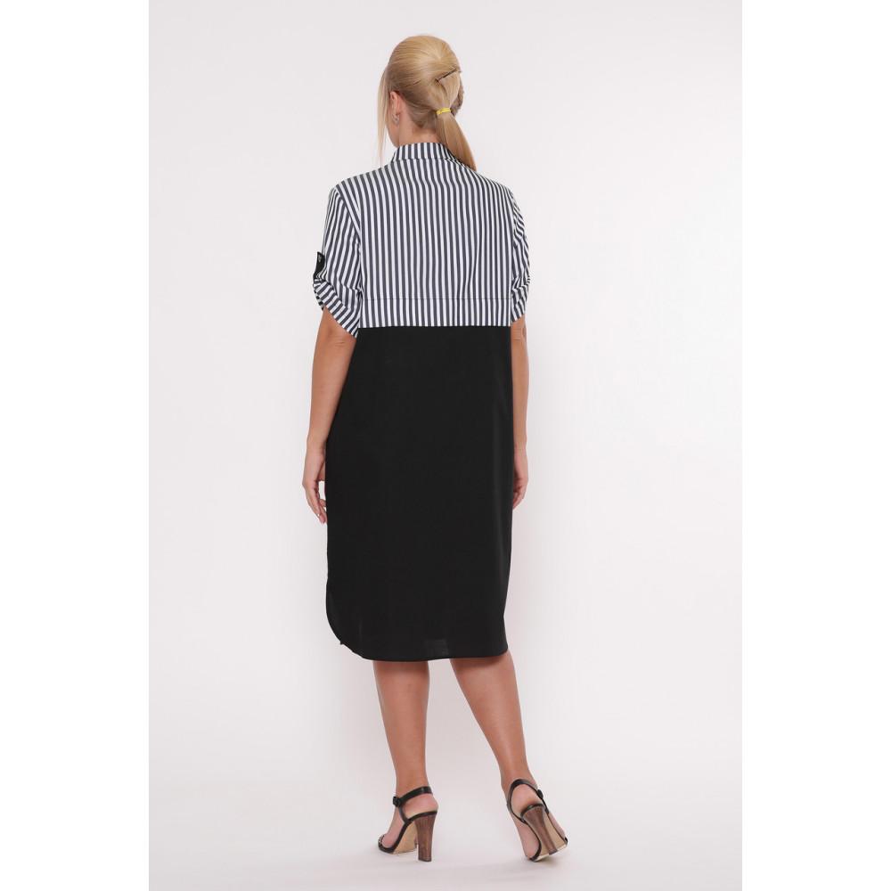 Модное комбинированное платье-рубашка Лана фото 2