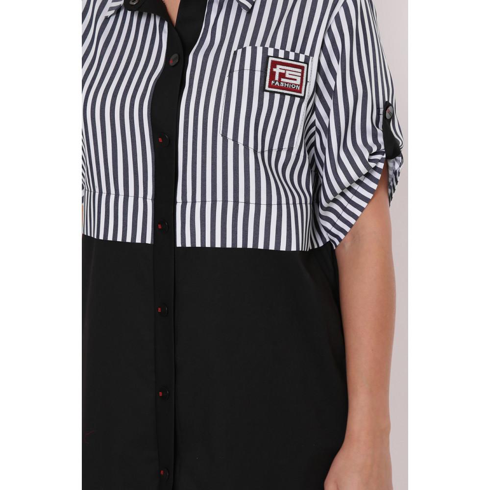 Модное комбинированное платье-рубашка Лана фото 4