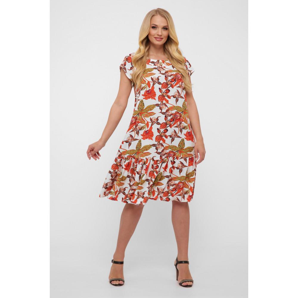 Летнее легкое платье с воланом Яна фото 1