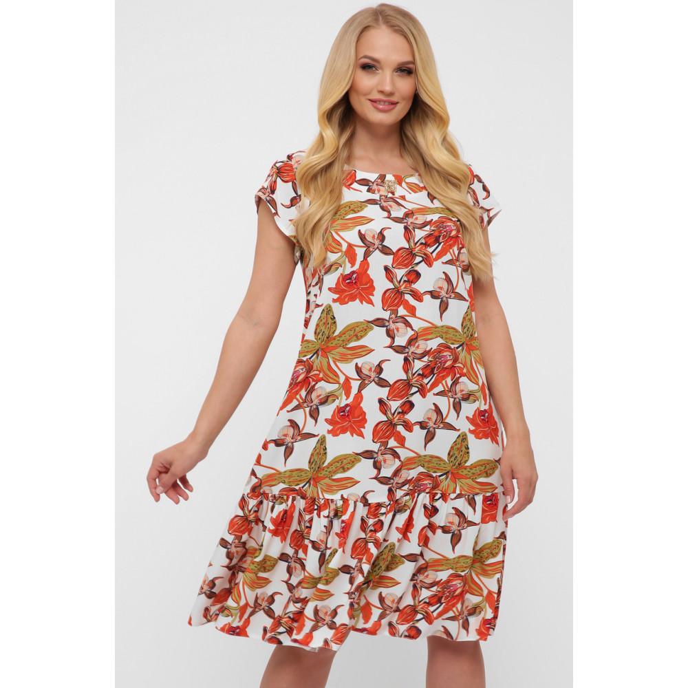 Летнее легкое платье с воланом Яна фото 7
