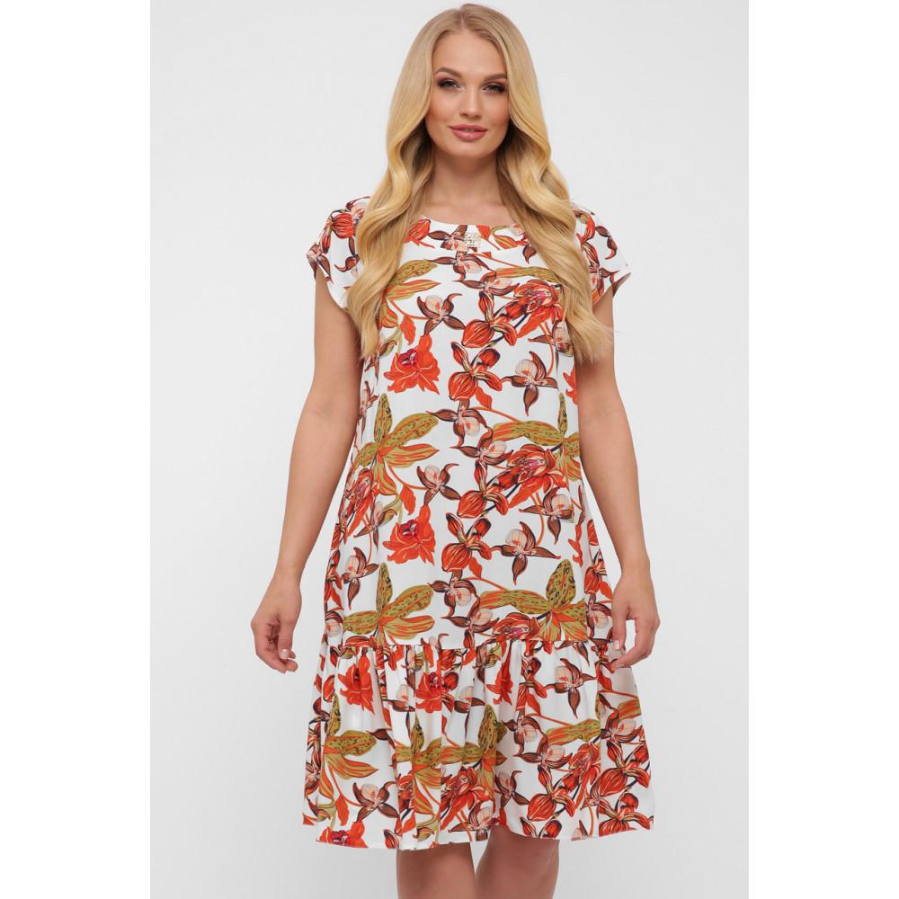 Летнее легкое платье с воланом Яна фото 8