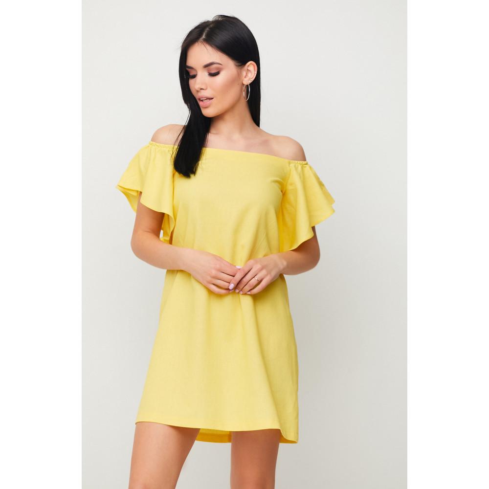 Желтое льняное платье Каир фото 1