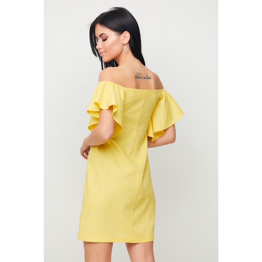 Желтое льняное платье Каир фото 3