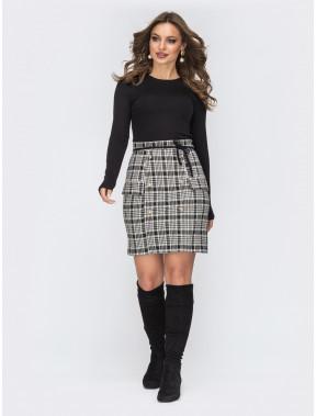 Офісна комбінована сукня-міні