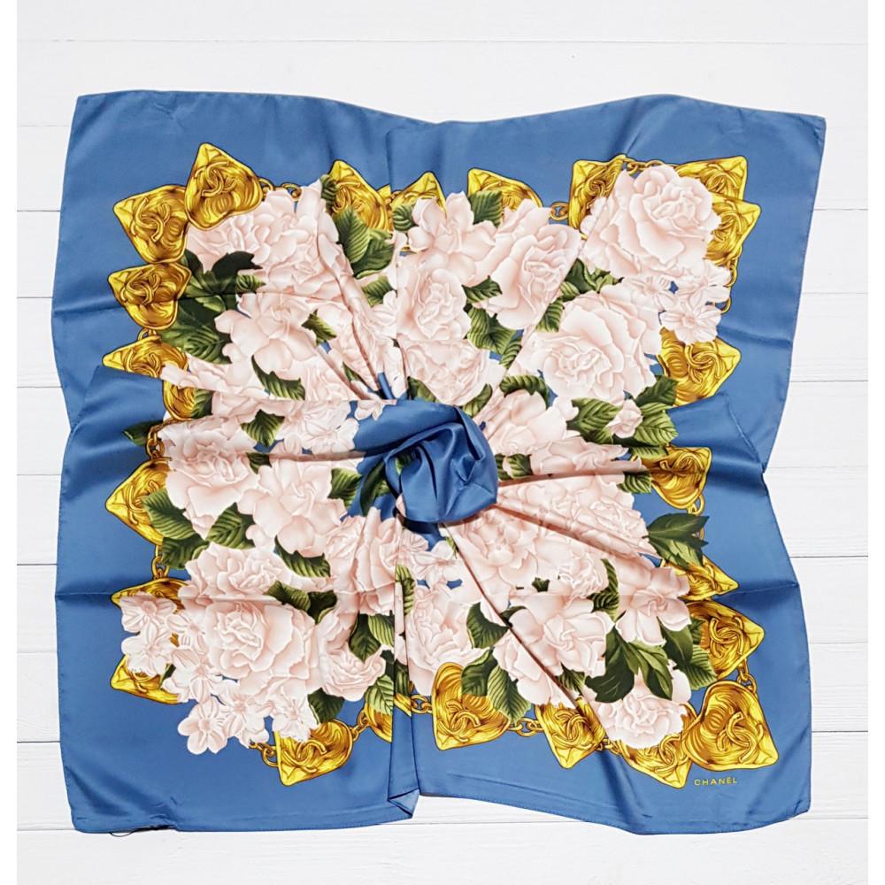 """Модный платок """"Шанель"""" с цветами фото 1"""