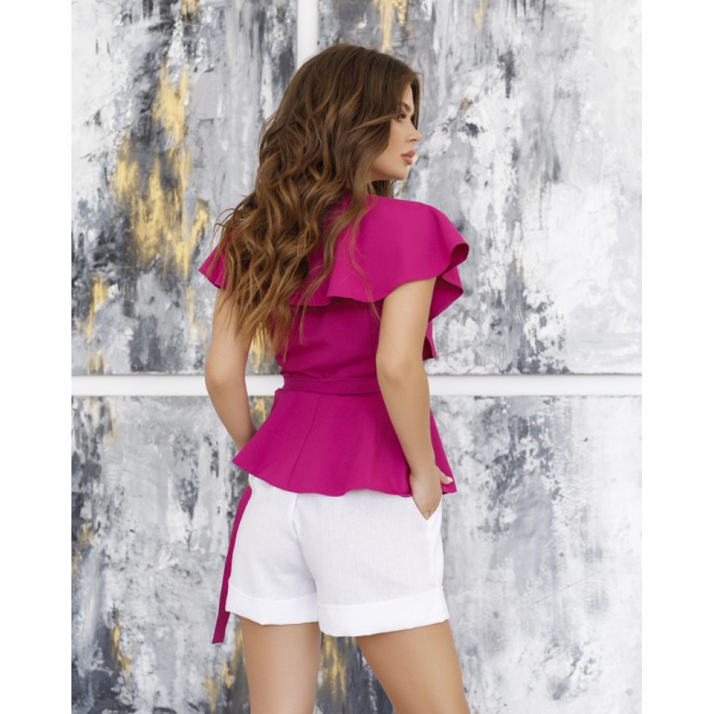 Блуза без рукавов с кроем на запах фото 3