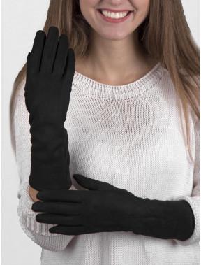 Черные перчатки длиной 3/4 с сенсором