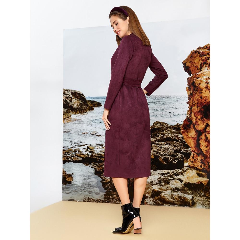 Бордовое платье на запах  фото 2