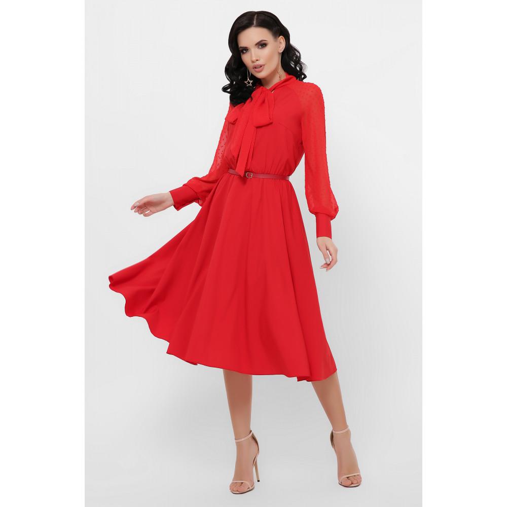 Алое яркое платье Аля  фото 3