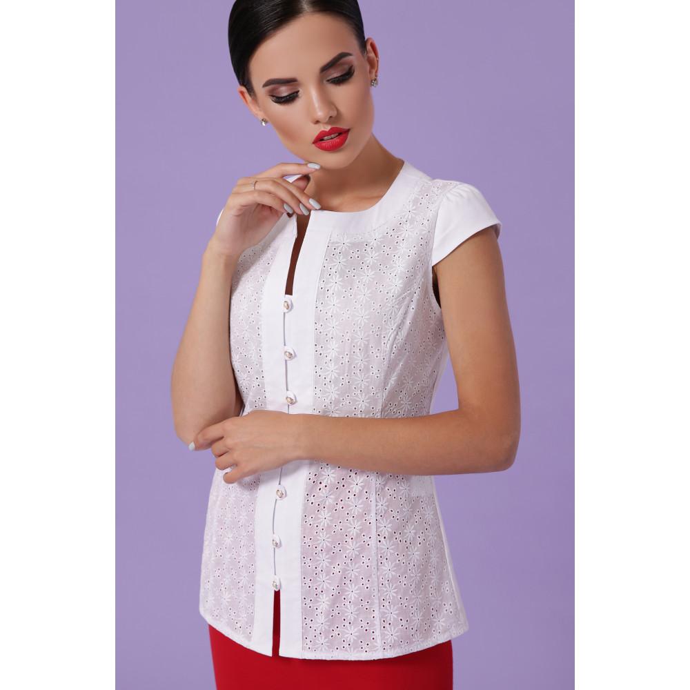 Белоснежная блуза Флори  фото 2