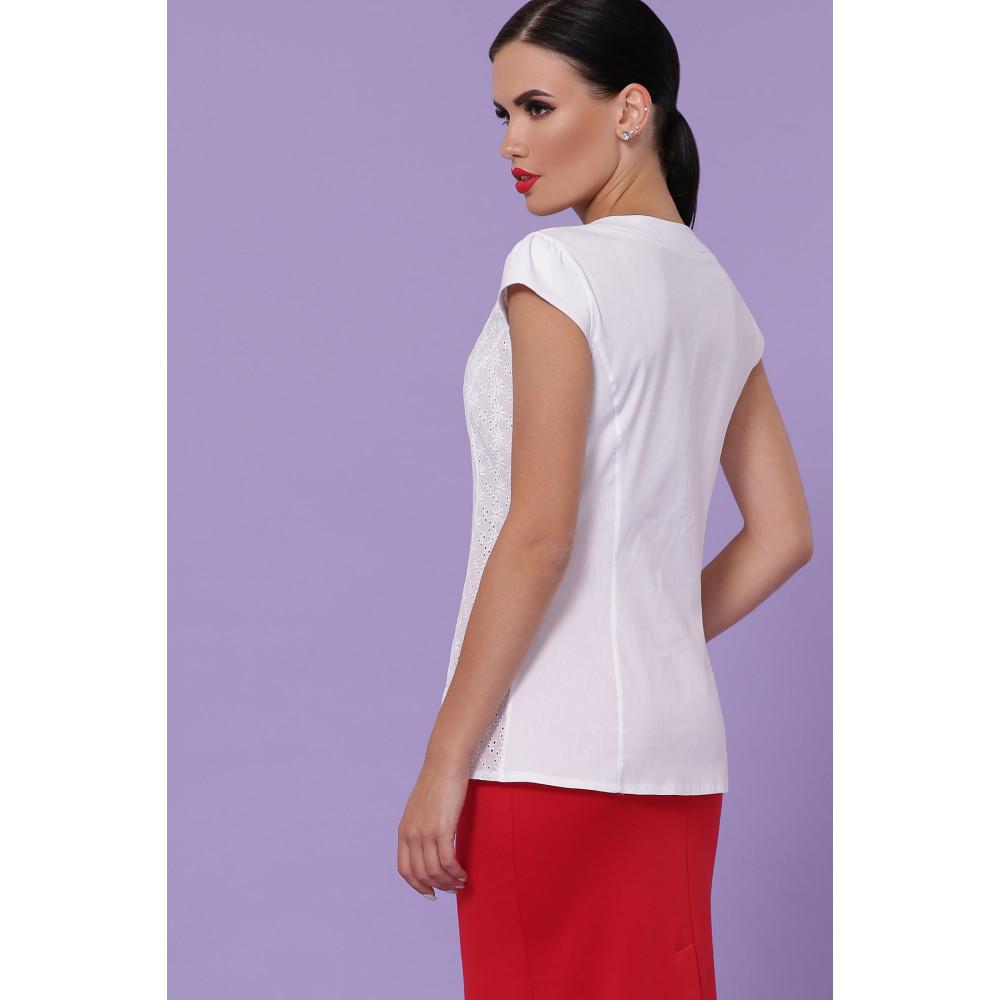 Белоснежная блуза Флори  фото 3