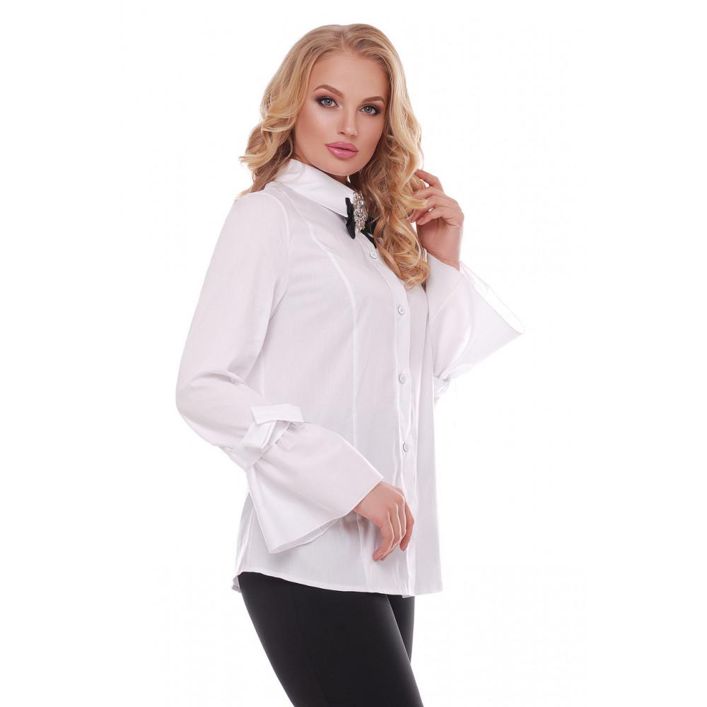 Белая рубашка из коттона Агата фото 2