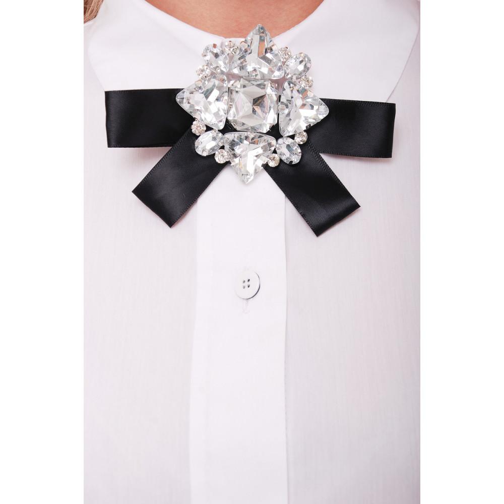 Белая рубашка из коттона Агата фото 4