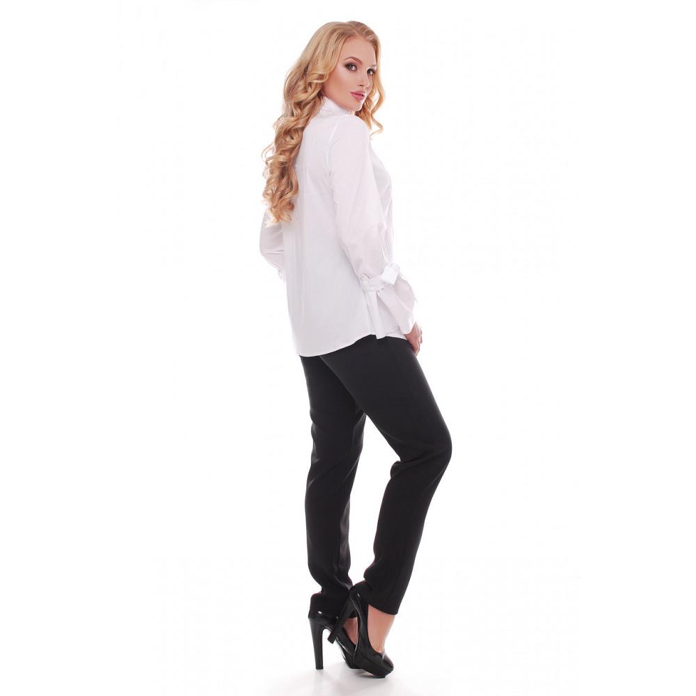 Белая рубашка из коттона Агата фото 5