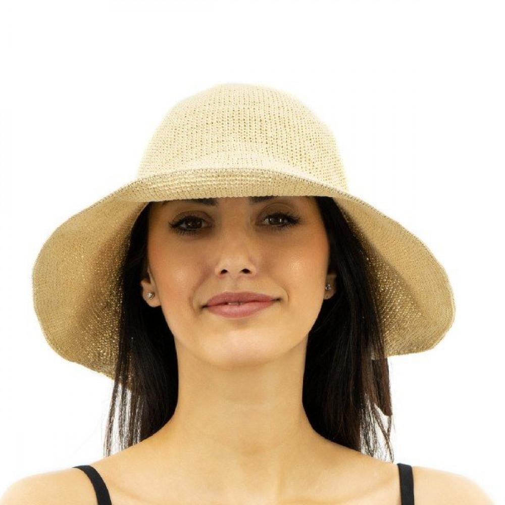 Бежевая шляпка с красивым бантом Кира  фото 1