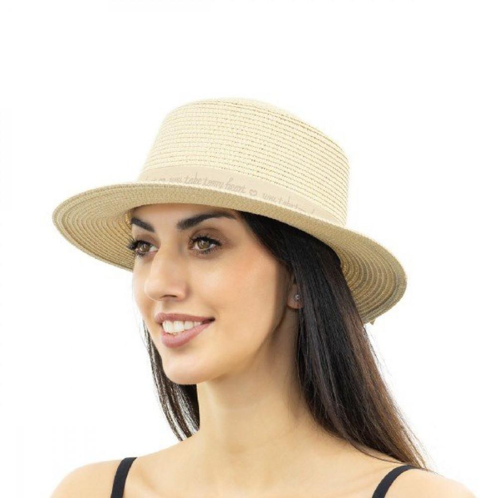 Бежевая милая шляпка Марта фото 1