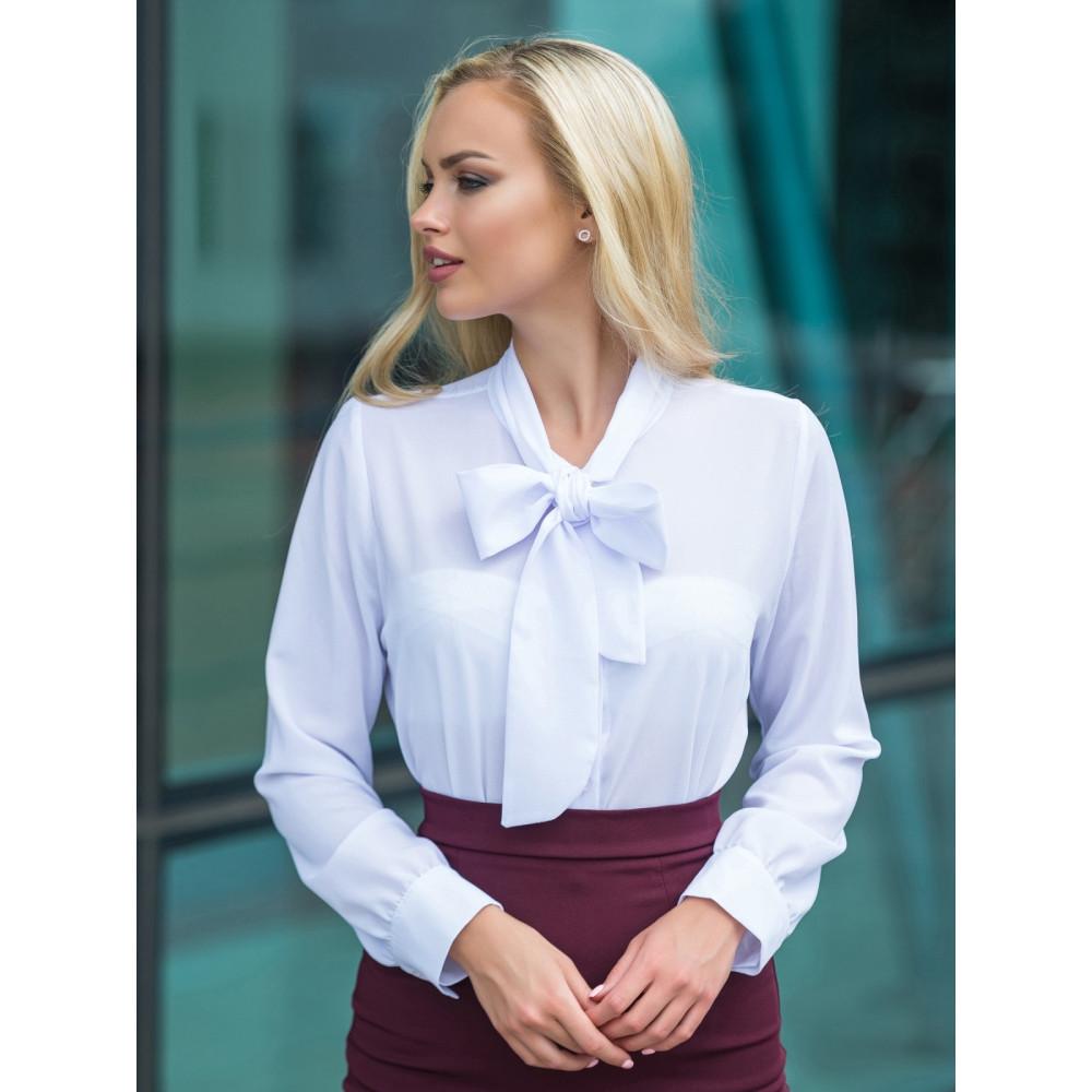 Белоснежная красивая блузка из шифона фото 2