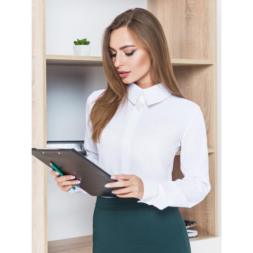 Лаконічна білосніжна блуза Каліпсо фото 1