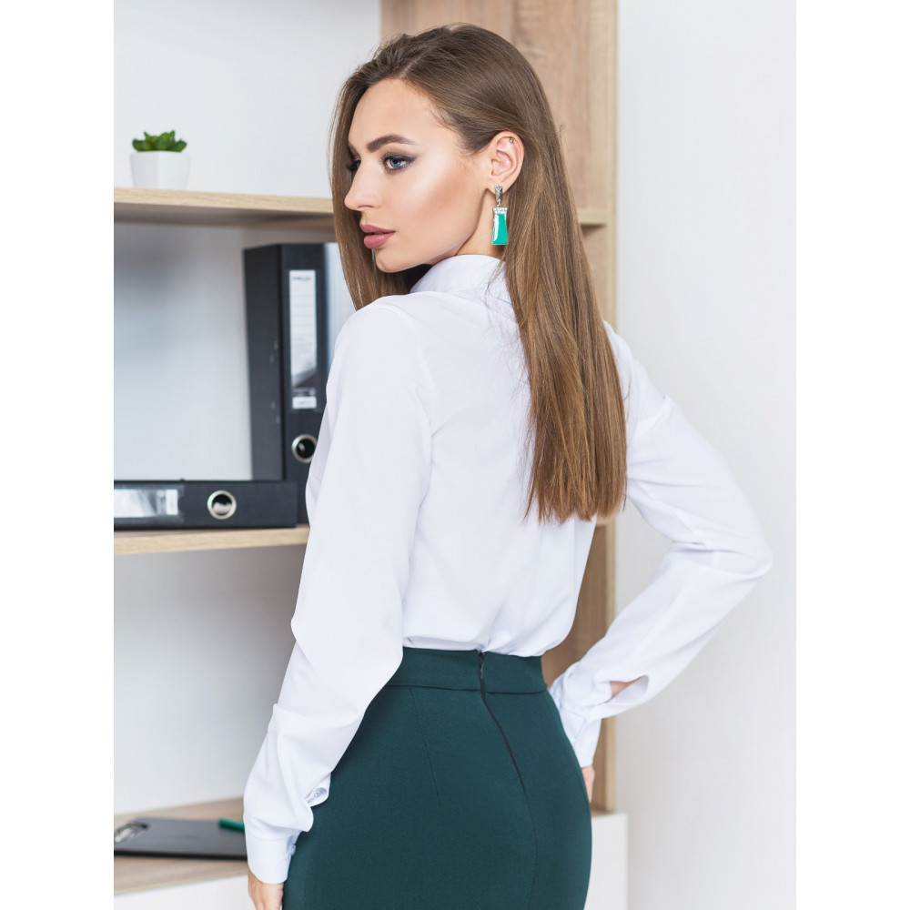 Лаконічна білосніжна блуза Каліпсо фото 2