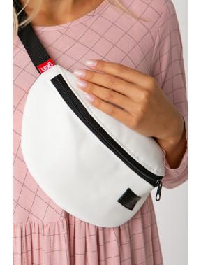 Зручна біла сумка на пояс Ten
