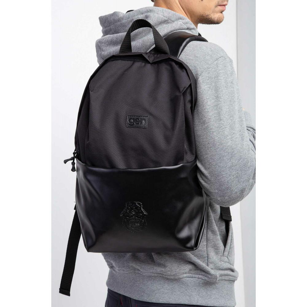 Большой черный рюкзак из кожзама Maks фото 1