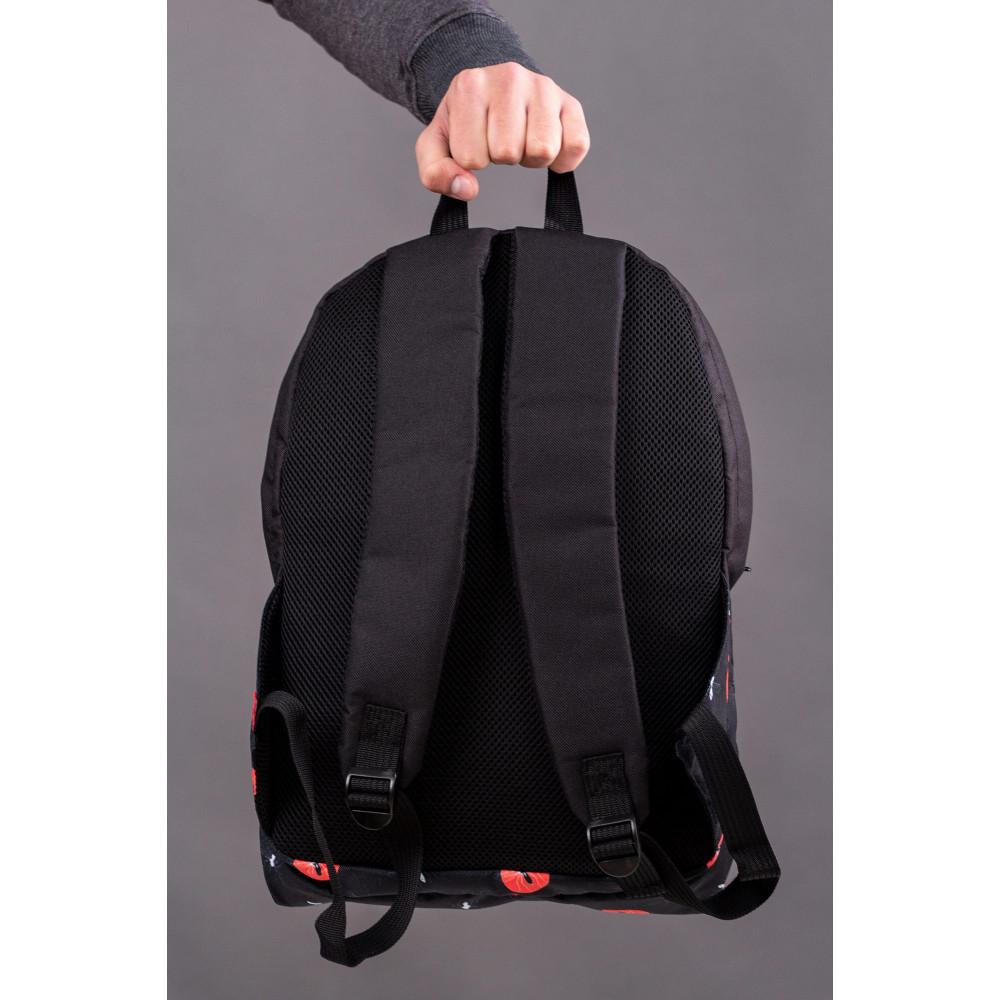 Большой черный рюкзак из кожзама Maks фото 2
