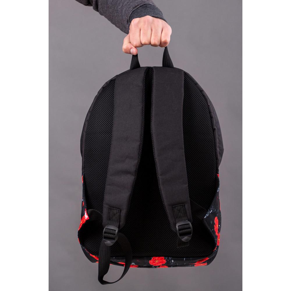 Большой черный рюкзак из кожзама Maks фото 3