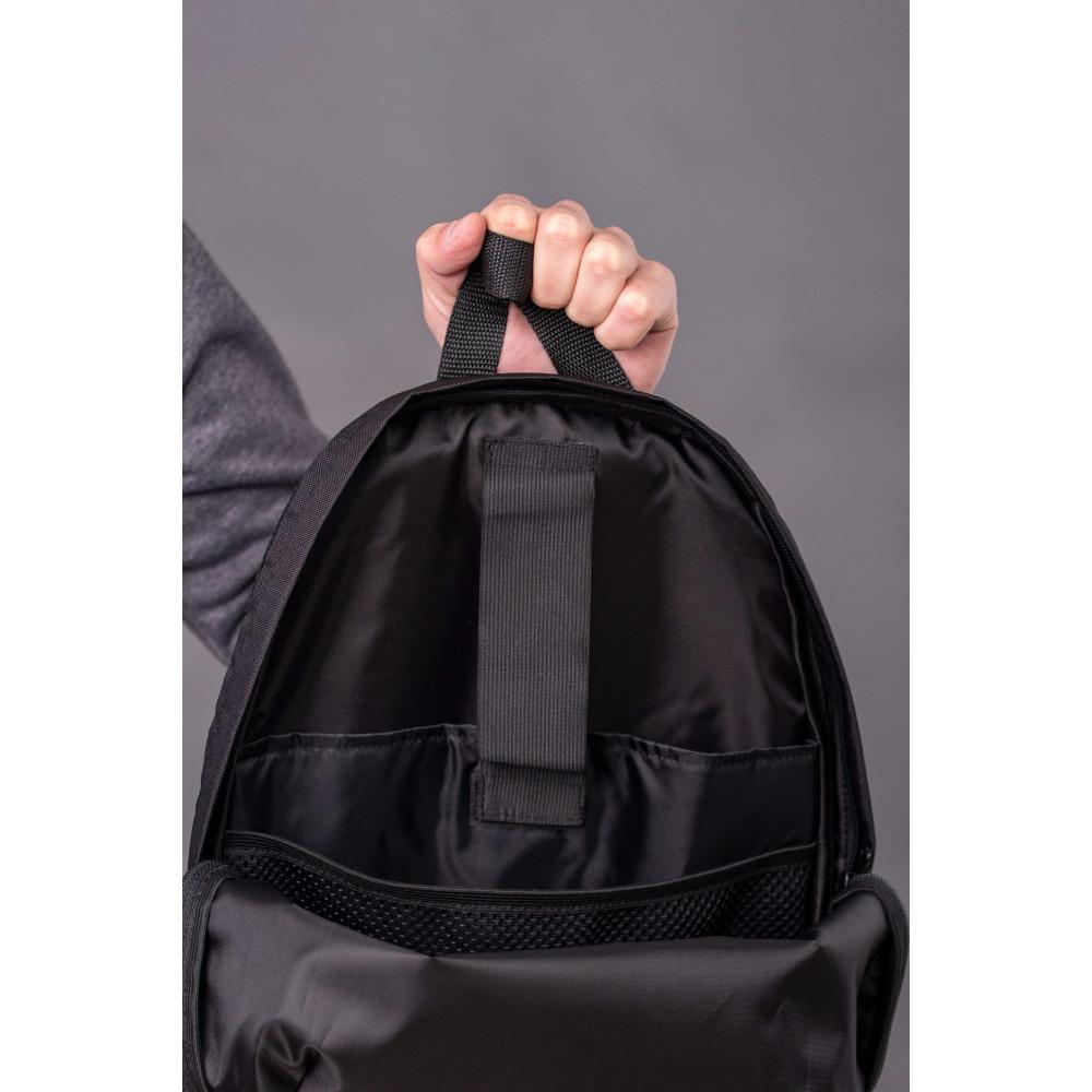 Большой черный рюкзак из кожзама Maks фото 4
