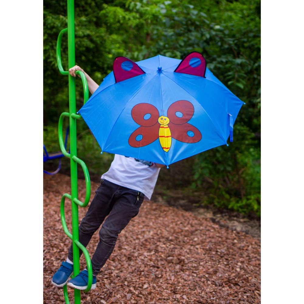 Дитяча парасолька-тростина з метеликом фото 1