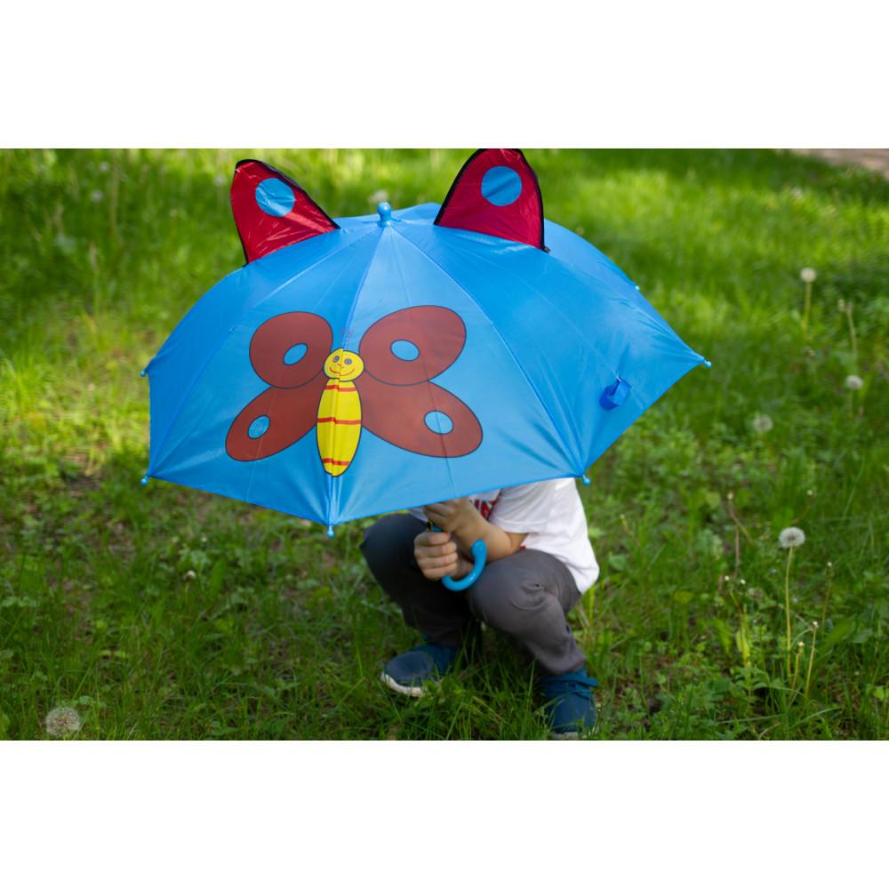 Дитяча парасолька-тростина з метеликом фото 2