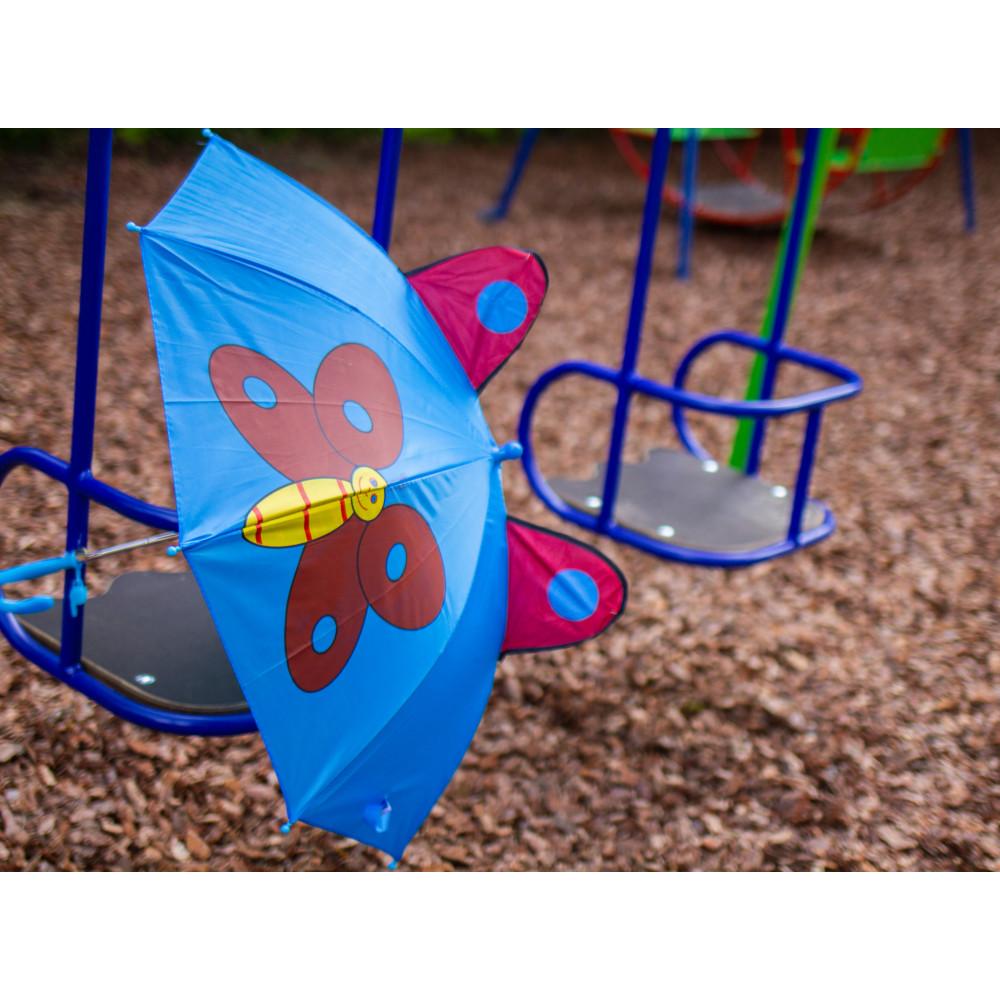Дитяча парасолька-тростина з метеликом фото 3