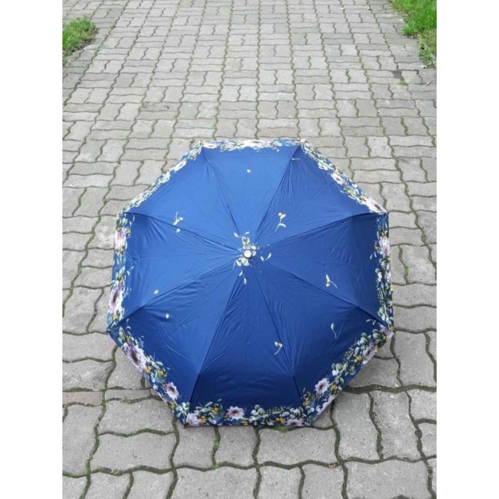 Женский зонт синего цвета с рисунком фото 2