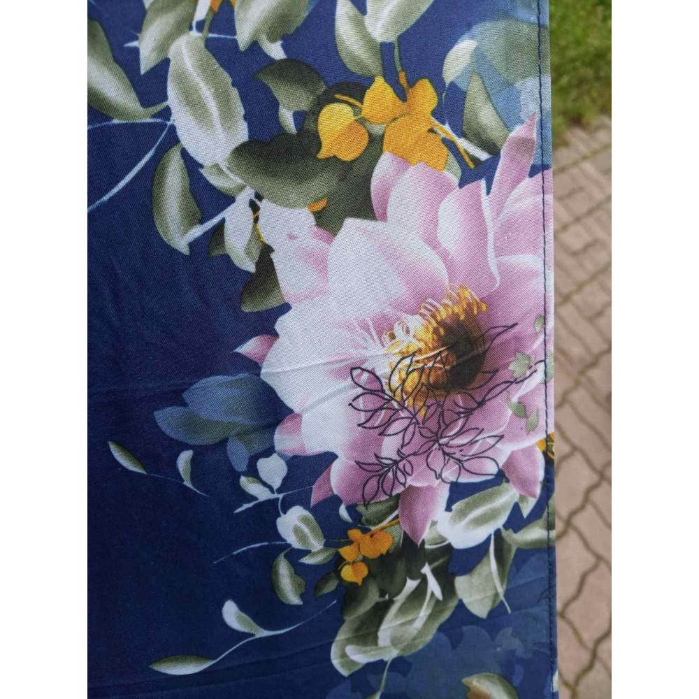 Женский зонт синего цвета с рисунком фото 3