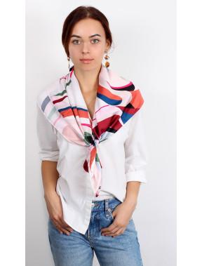 Пудровый платок на шею