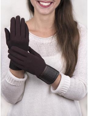 Коричневые женские перчатки