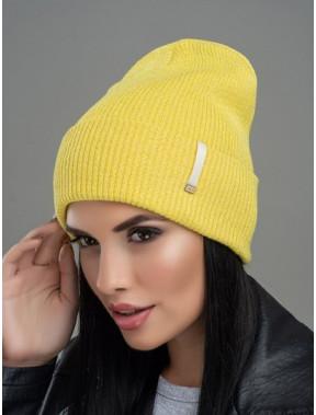 Молодіжна жовта шапка Юнона з люрексом