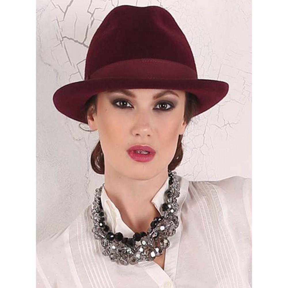 Женская шляпа-федора 282-1 фото 1