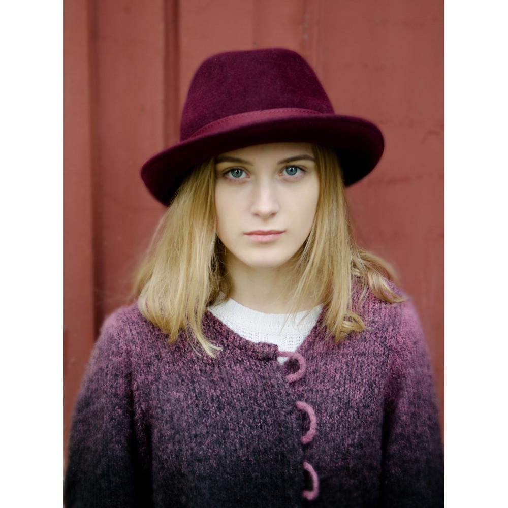 Женская шляпа-федора 282-1 фото 4
