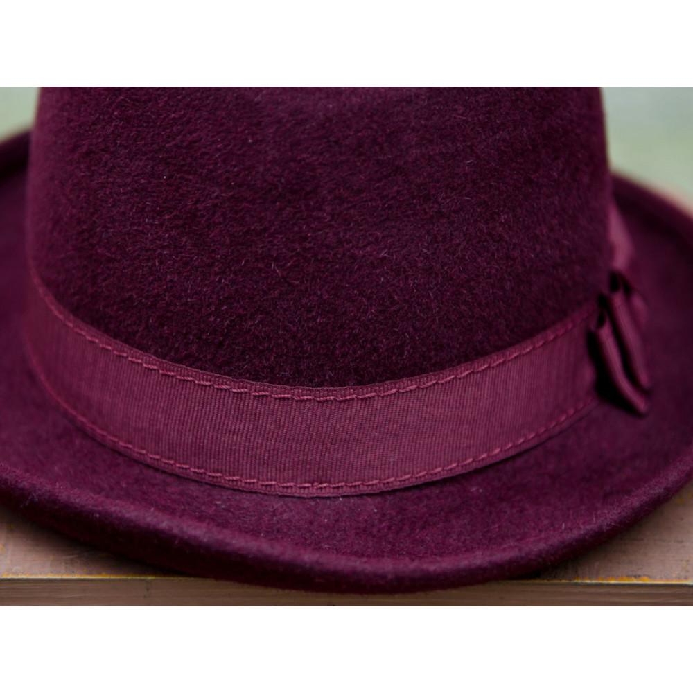 Женская шляпа-федора 282-1 фото 5