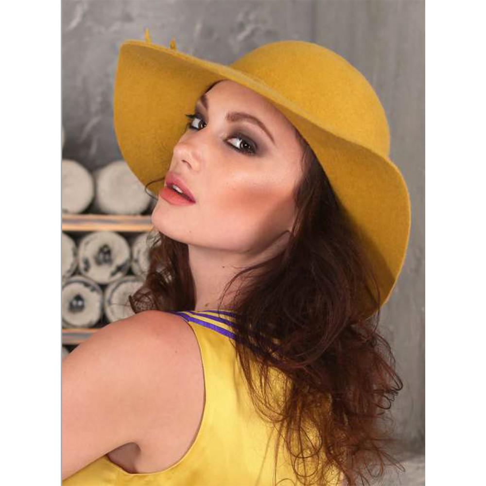 Интересная шляпа с мягкими полями 277-1 фото 1