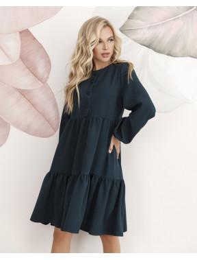 Зеленое платье-трапеция Пэтси