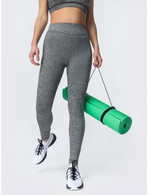 Серые лосины для занятий активным спортом