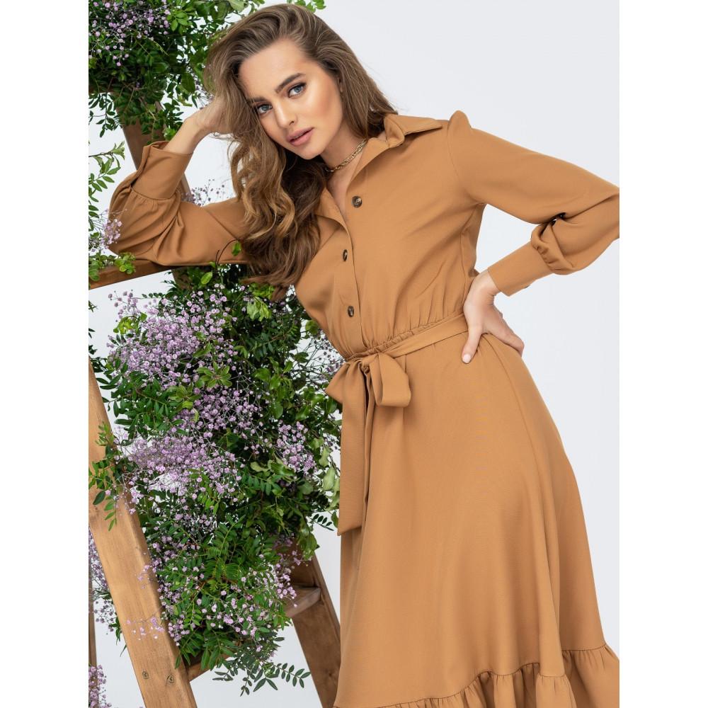 Карамельное уютное платье Каролина фото 1