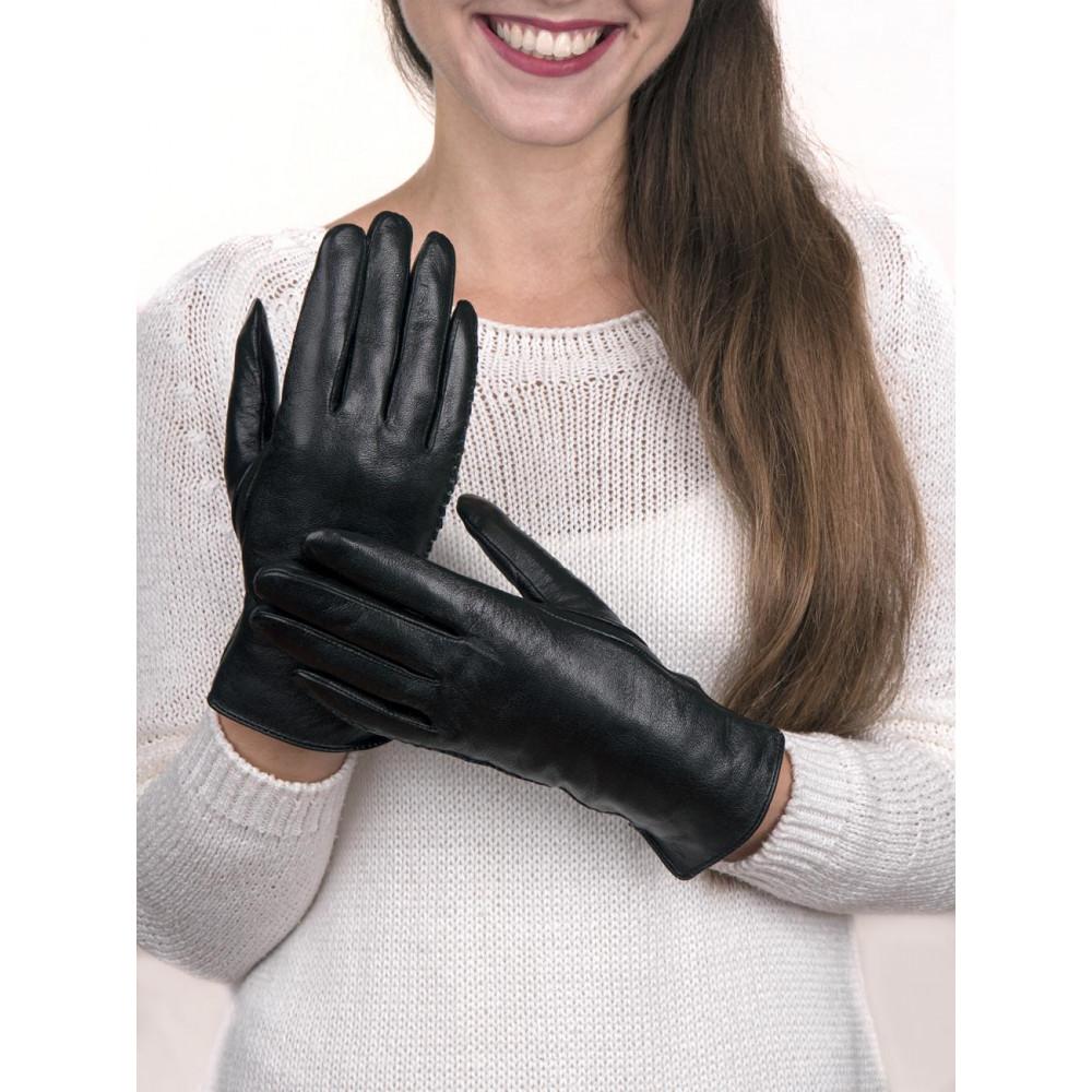 Красивые кожаные перчатки фото 1