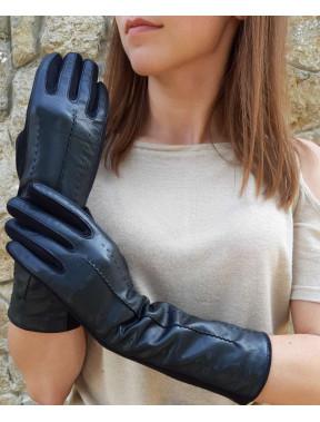 Комбинированные удлиненные перчатки