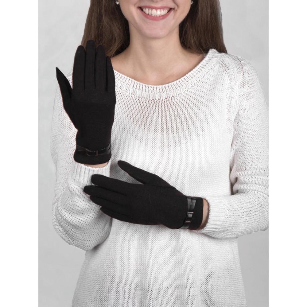 Женские шерстяные перчатки без утеплителя фото 1