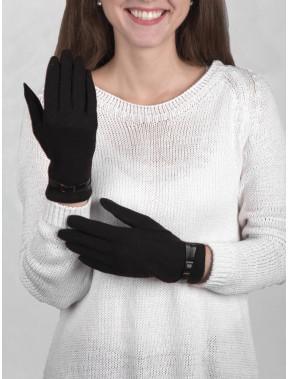 Женские шерстяные перчатки без утеплителя